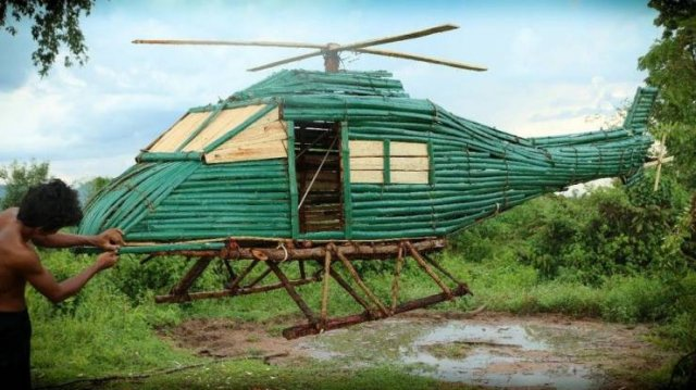 NutBull-wood helicopter